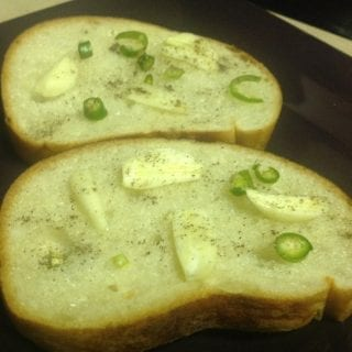 easy garlic jalapeño toast