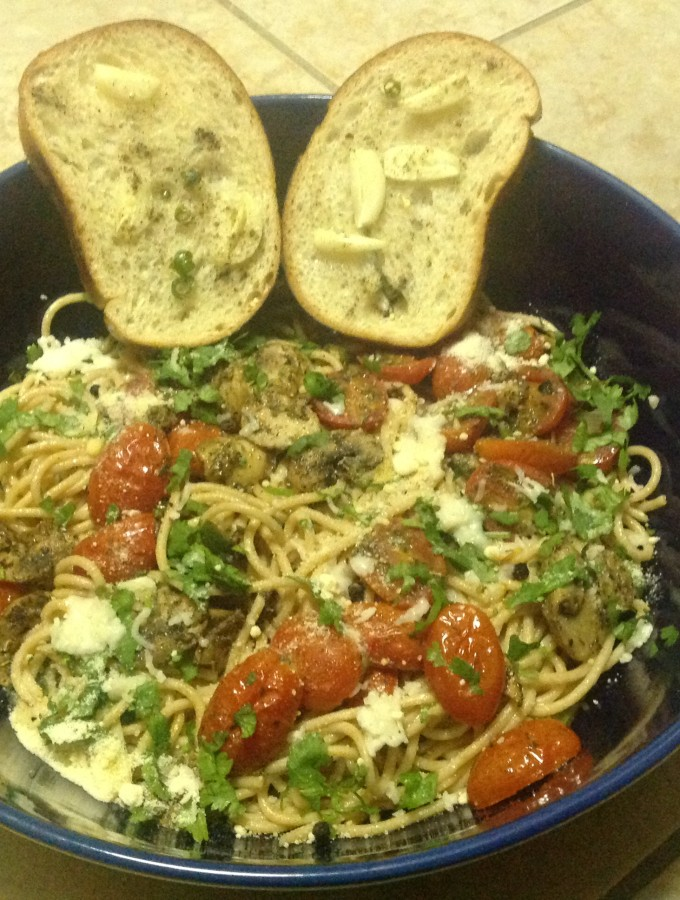 Tomato and Mushroom Spaghetti