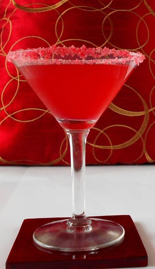 pink martini - A simple way to make martini for your new years party or any special occasion.