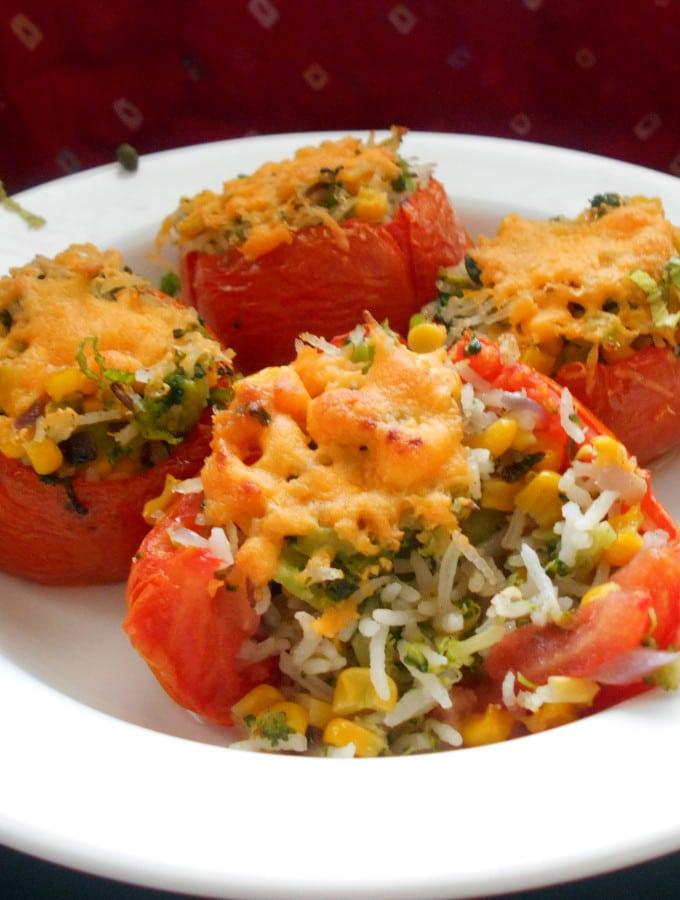 Stuffed Tomatoes – Vegetarian