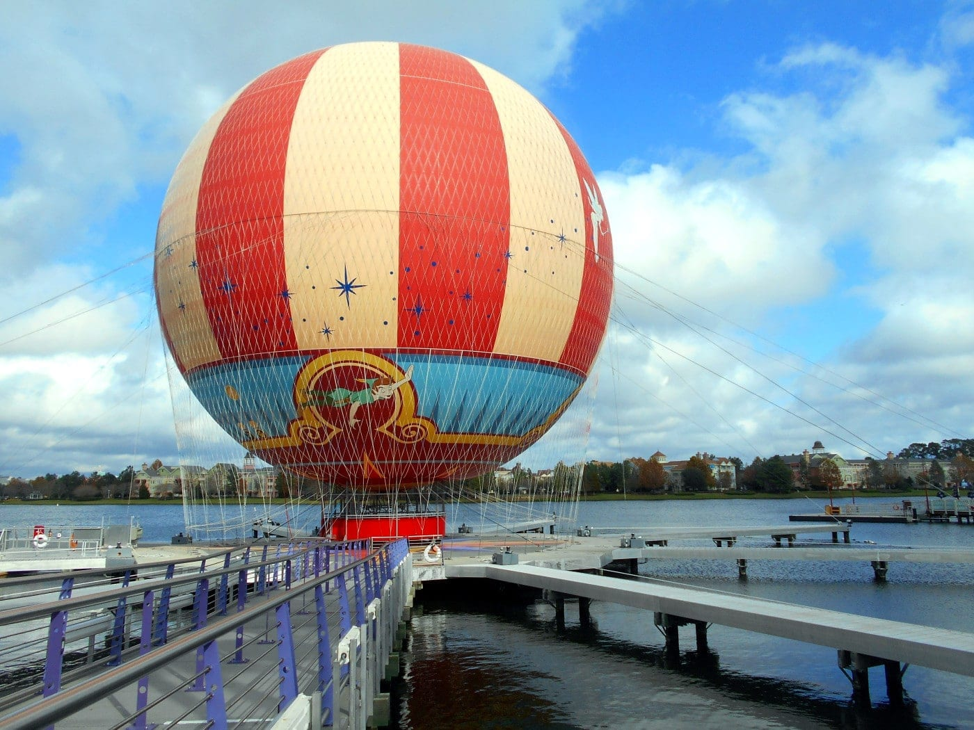 View of the Balloon ride at Downtown Disney (Disney Springs) - Yogurt Dressing