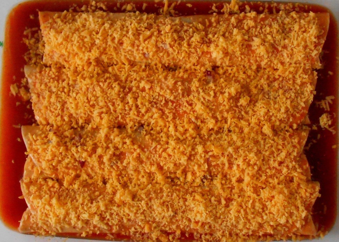vegetarian enchilada sharp cheddar