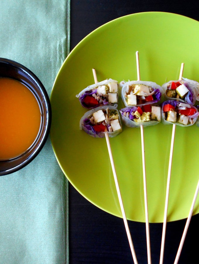 Vegetarian Rolls with Apricot Sauce