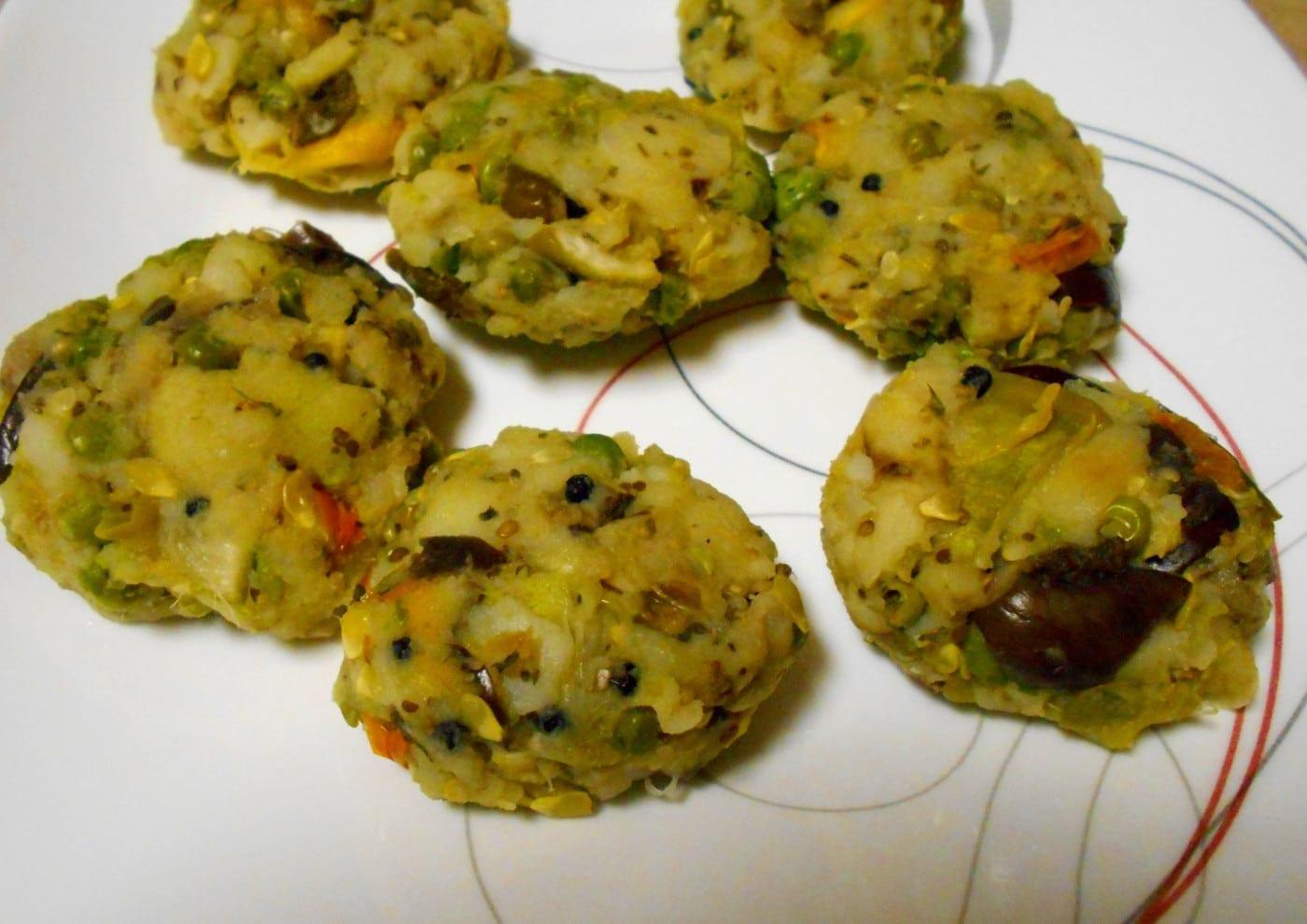 Veggie Burger Recipe Patties on a white plate