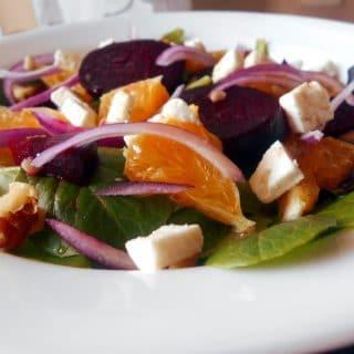easy Roasted beet salad recipe