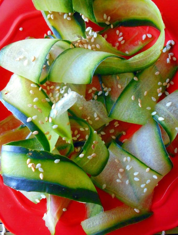 Cucumber Salad made Japanese Style