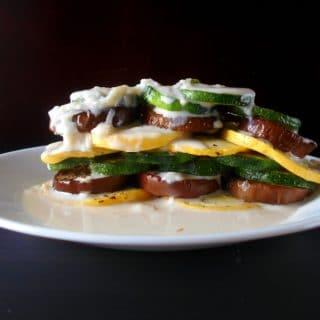 how to make vegetarian Ratatouille Stack