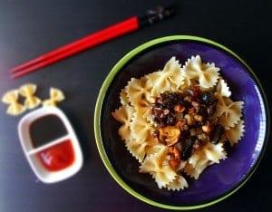 Bow-tie Stir Fry recipe using fresh veggies. Simple dinner or lunch recipe
