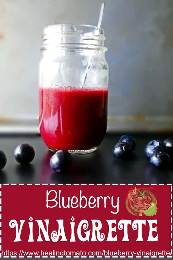 Summer Blueberry Vinaigrette Dressing Recipe for Salad that is gluten free and made with olive oil. Salad Dressings made for a spinach salad and any kind of salad recipe. #dressings #salads #blueberry #fruitdressing #summer #recipe #oliveoils