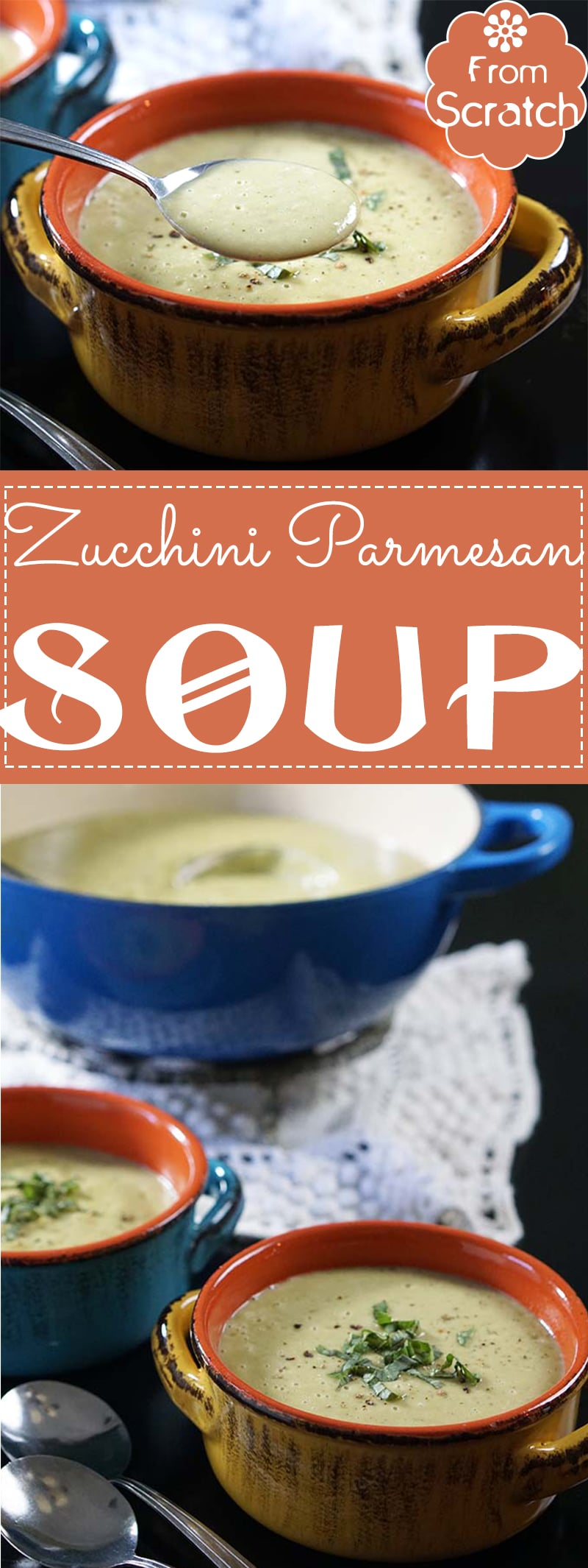A hearty zucchini Parmesan soup made with fresh zucchini. Its a hearty and warm soup that you can curl up with in front of the fire.