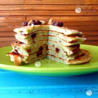 easy Vegan Chocolate Chip Pancakes