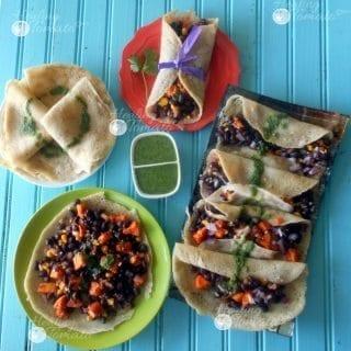 Mexican Crepe Tacos recipe