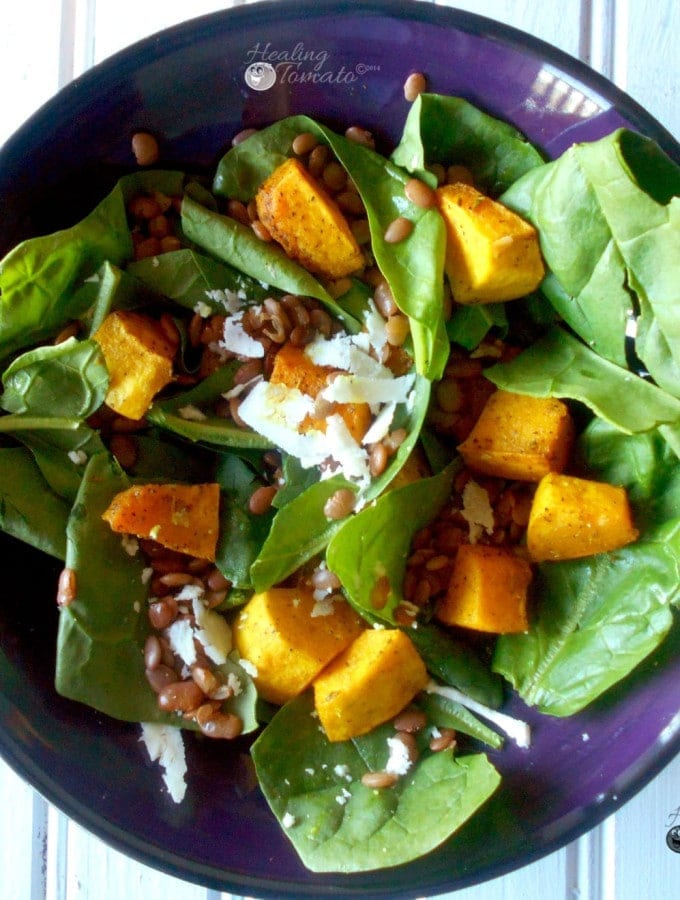 Lentil Salad with Spiced Pumpkin is a very delicious and healthy salad. It is quick and easy to make. Contains lots of proteinsth Spiced Pumpkin