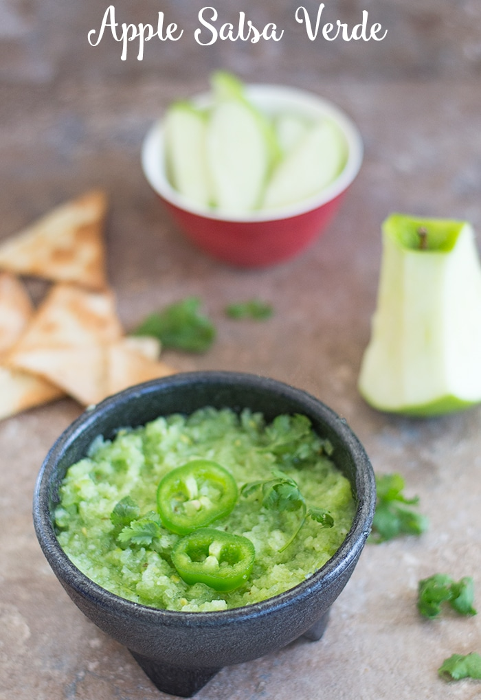 Green Apple Salsa Verde recipe for Cinco De Mayo