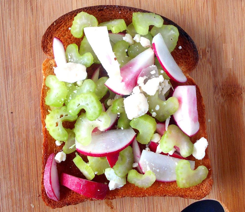 Celery Salad on Toast