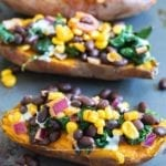 Front view of loaded sweet potato arranged diagonally