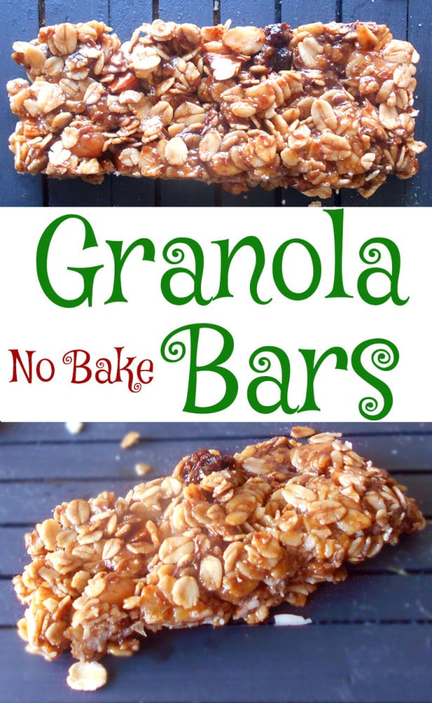 Homemade granola bars are very easy to make and they very little effort. The sky is the limit when it comes to the ingredients. I added caramel bits.