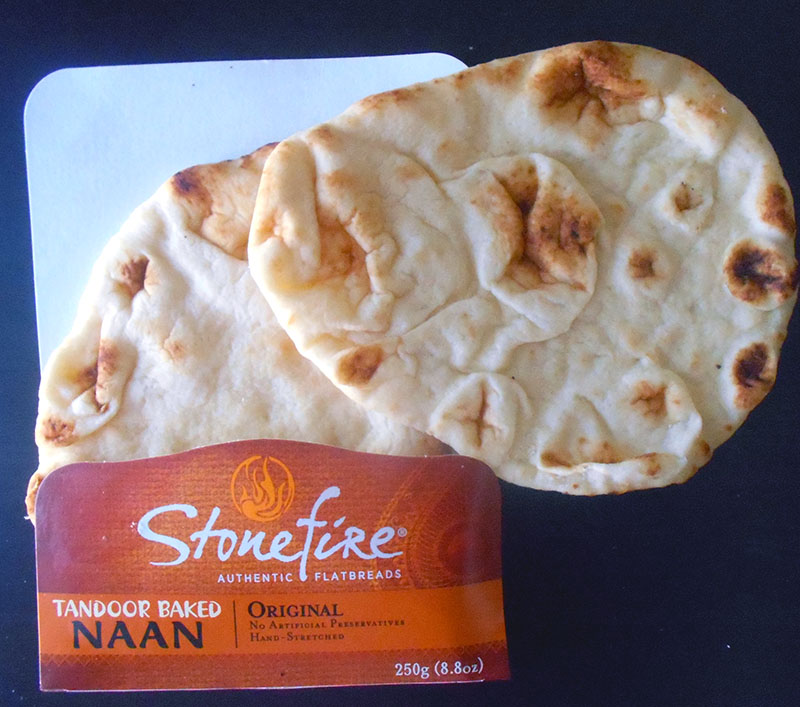 Overhead view of stonefire naan