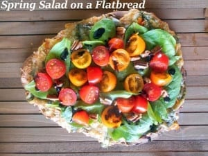 Spring Salad On A Flatbread