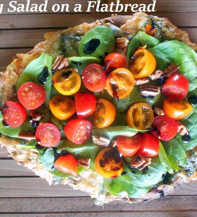 Spring Salad On Flatbread Pizza