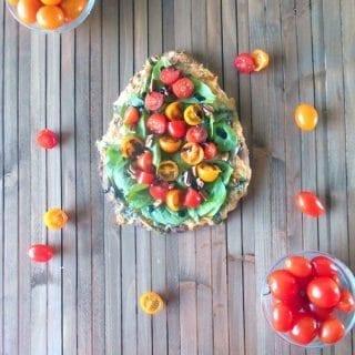 spring salad on a flatbread recipe