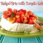 Baked brie with tomato salsa recipe