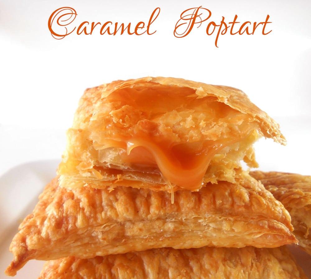 Caramel Homemade Pop Tart Flavor. Quick Recipe for making pop tarts at home