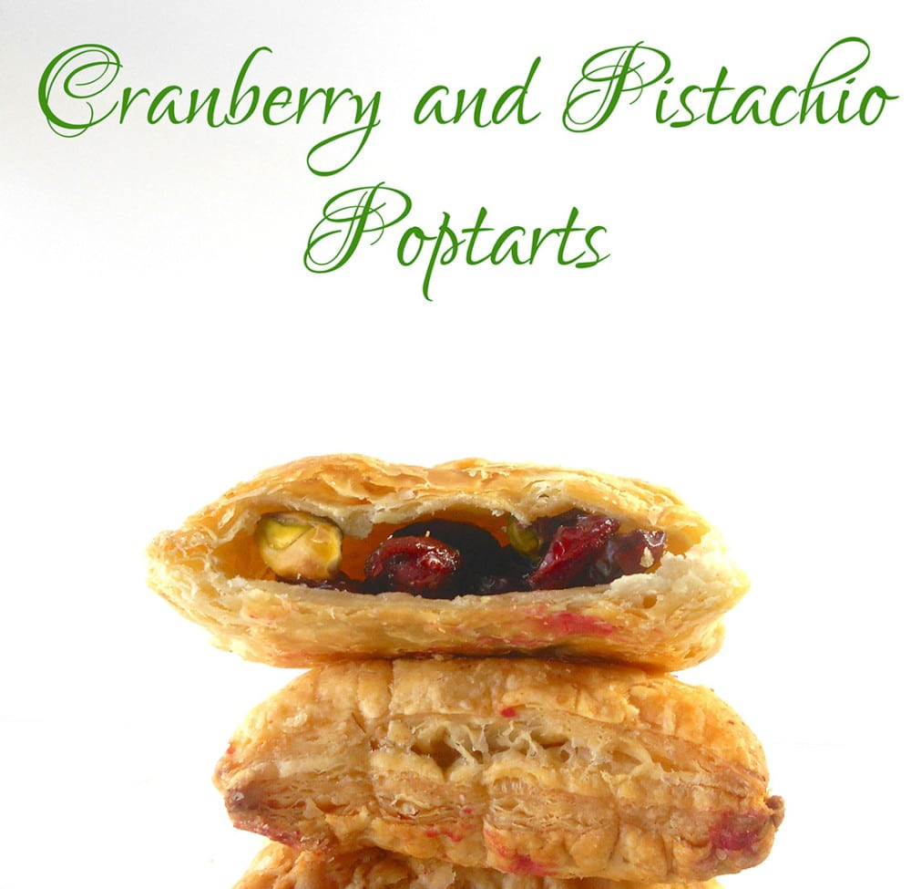 Cranberry and Pistachio Homemade Pop Tart Flavor. Quick Recipe for making pop tarts at home