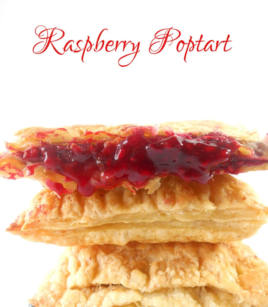 Raspberry Homemade Pop Tart Recipe. Quick Recipe for making pop tarts at home