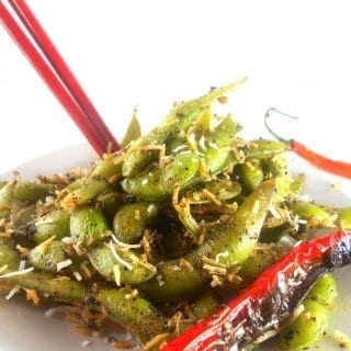 healthy snack alternative thai flavored edamame