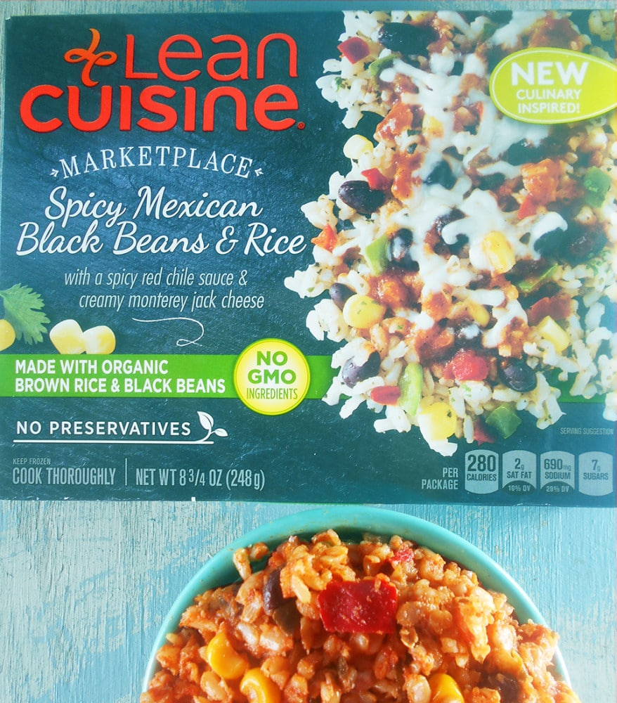 Lean Cuisine Marketplace - Spicy Mexican Black Beans & Rice for a quick lunch or dinner idea. Takes only 6 minutes to make and eat. You can also make it into mini tostadas for a quick appetizer idea