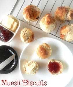 Muesli Biscuits are part of a delicious brunch recipes menu. It is a delicious way to eat Nature Valley Muesli. Made with Muesli and flax seed meal. A healthy recipe idea for breakfast or brunch #mueslichallenge #muesli #mueslirecipes #Sponsored