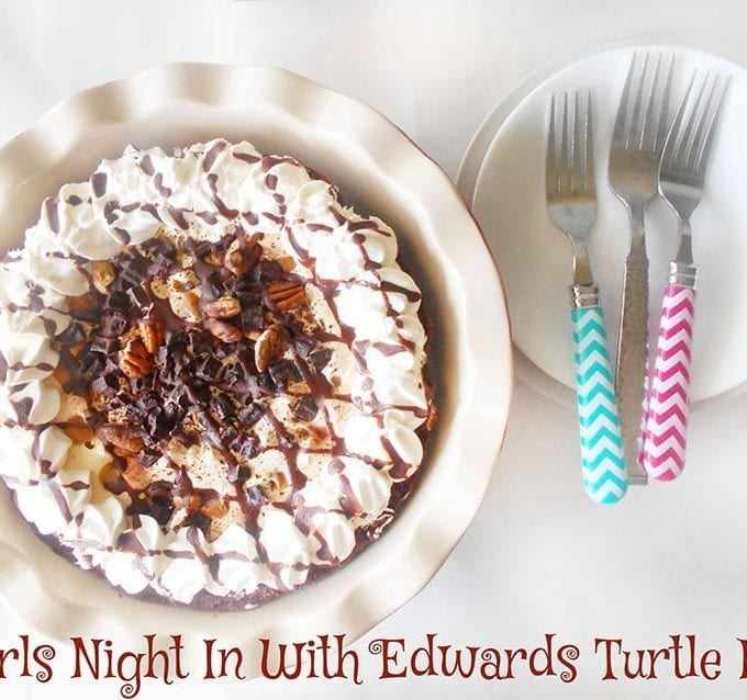 Edwards Turtle Pie is the perfect pie for a girls night in. They are decadent and comforting. It makes even the dullest person in the world turn wild