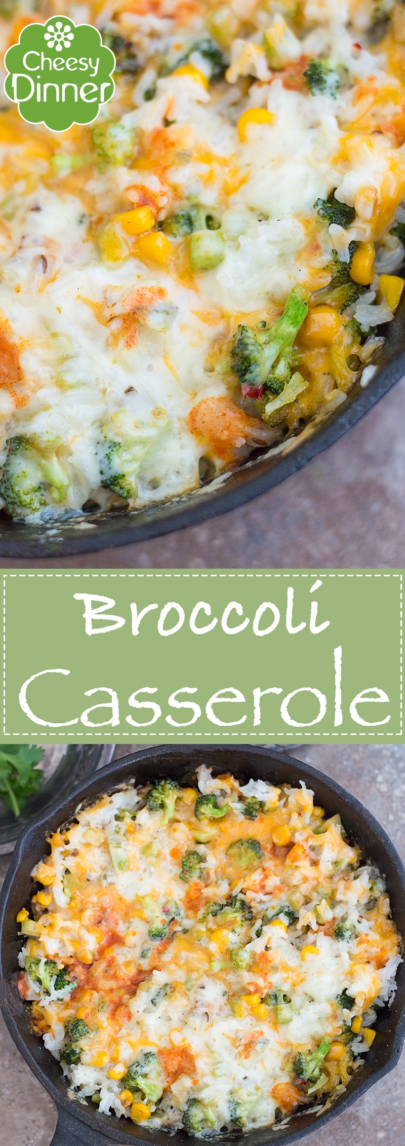 This Easy and Quick One Pot Meal Broccoli Rice Casserole is the Perfect Dinner Recipe for Those Busy Weeknights. It's One of My Favorite Comfort Foods | Family meals, weeknight dinners, quick dinners, one pot recipes
