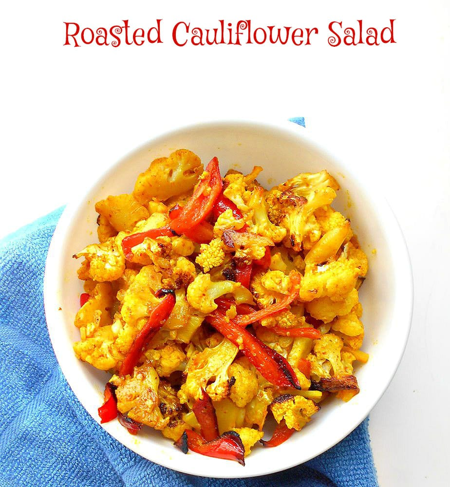 Roasted Cauliflower Salad - Quick snack or quick side dish for dinner ...