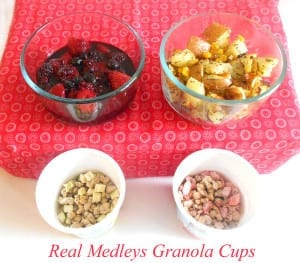 Quaker Real Medley is a convenient new quick breakfast item. All you have to do is add milk and it is ready to eat. Eat by itself or serve with a berry topping and a side of hashbrowns