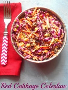 This is the best coleslaw recipe. Make coleslaw using red cabbage and saffron yogurt mayo. Perfect low carb recipe. Goes great as a side dish or a snack. Vegetarian recipe