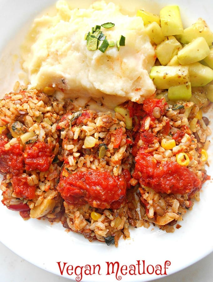 This Vegan Meatloaf Recipe is easy to make. Made with rice, veggies and marinara sauce. Perfect dinner recipe for any day of the week.