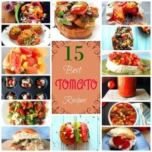 15 best tomato recipes ever. Include vegan recipes, vegetarian recipes, Gluten Free Recipes, lo Carb recipes and healthy recipes