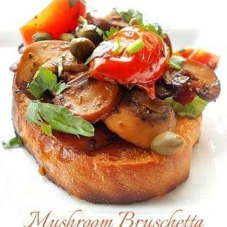 easy mushroom bruschetta