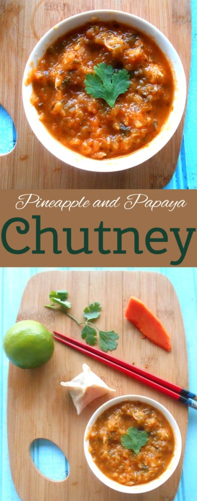 Quick and simple chutney recipe made with Pineapple, Poblano and Papaya. Has Carribean flavors. Goes great with any meal.