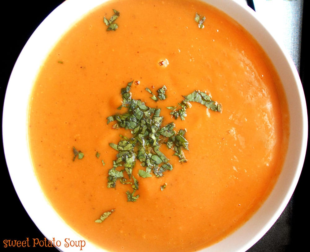 Sweet Potato Soup Recipe (Vegan) - Healing Tomato