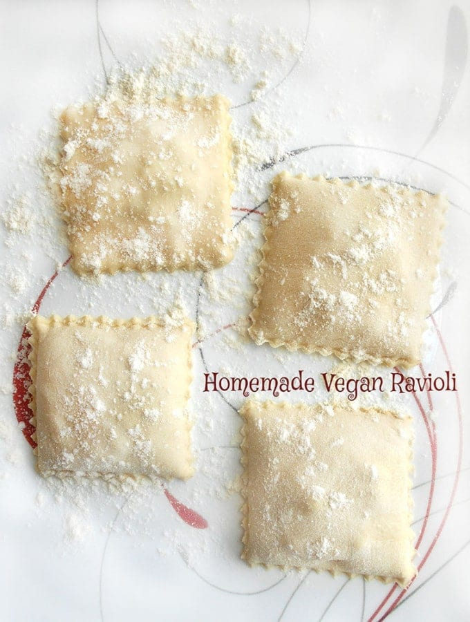 Making vegan ravioli using Carnival squash is very easy and delicious. Perfect vegan dinner idea for the whole family. It is a quick weeknight dinner idea.