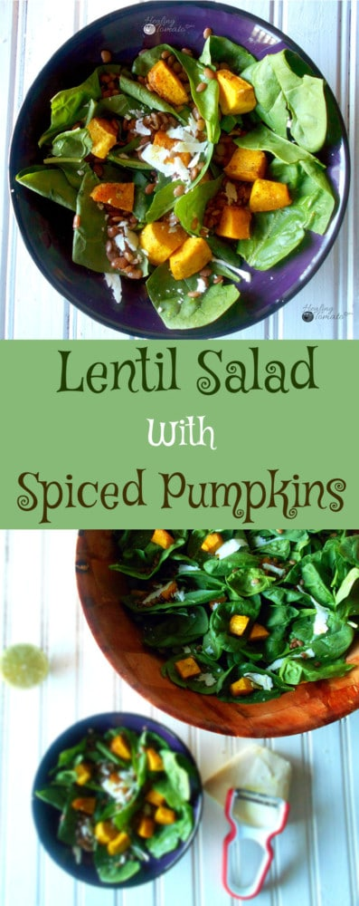Lentil Salad with Spiced Pumpkin is a very delicious and healthy salad. It is quick and easy to make. Contains lots of proteins