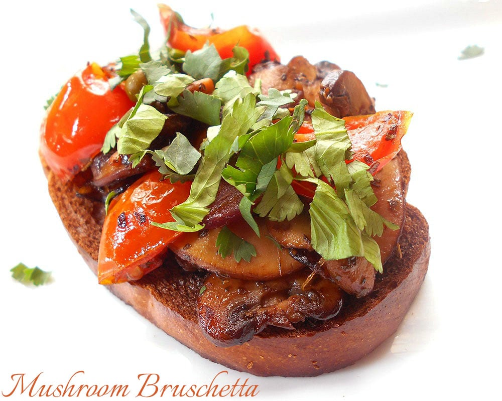 Mushroom Bruschetta With Tomatoes - Healing Tomato Recipes