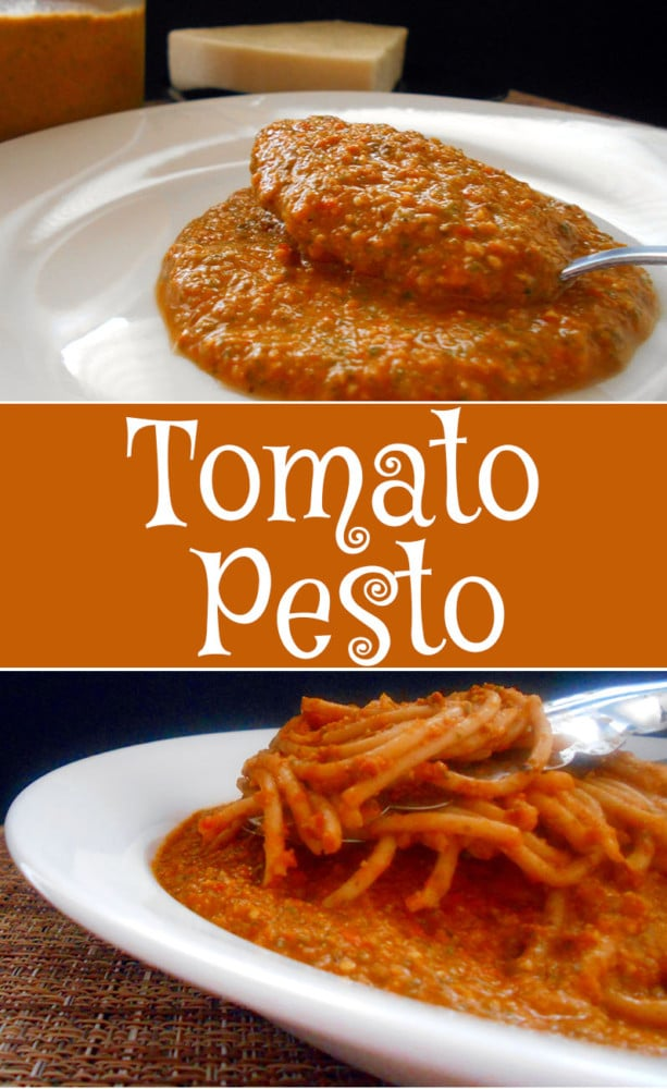 A different kind of pesto recipe. This one uses tomatoes with other spices to make a delcious pesto sauce. Comfort food for vegetarians