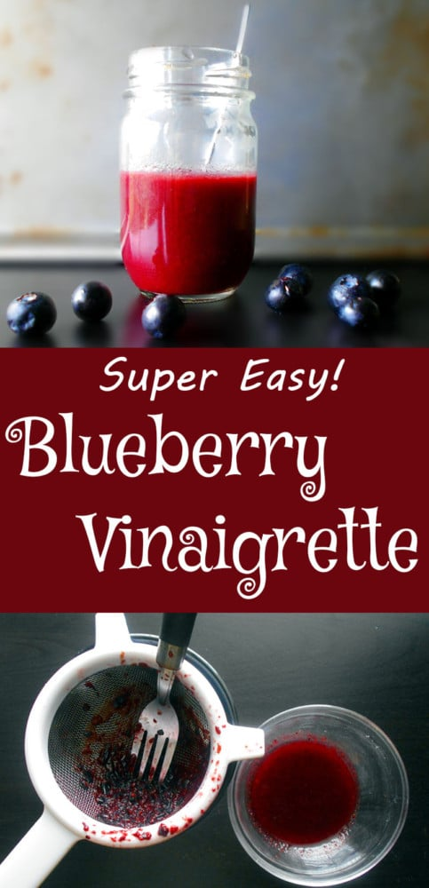 Blueberry Vinaigrette - Quick and simple vinaigrette for any salad.  Goes great on any Mediterranean salad, like a Mediterranean Tomato Salad