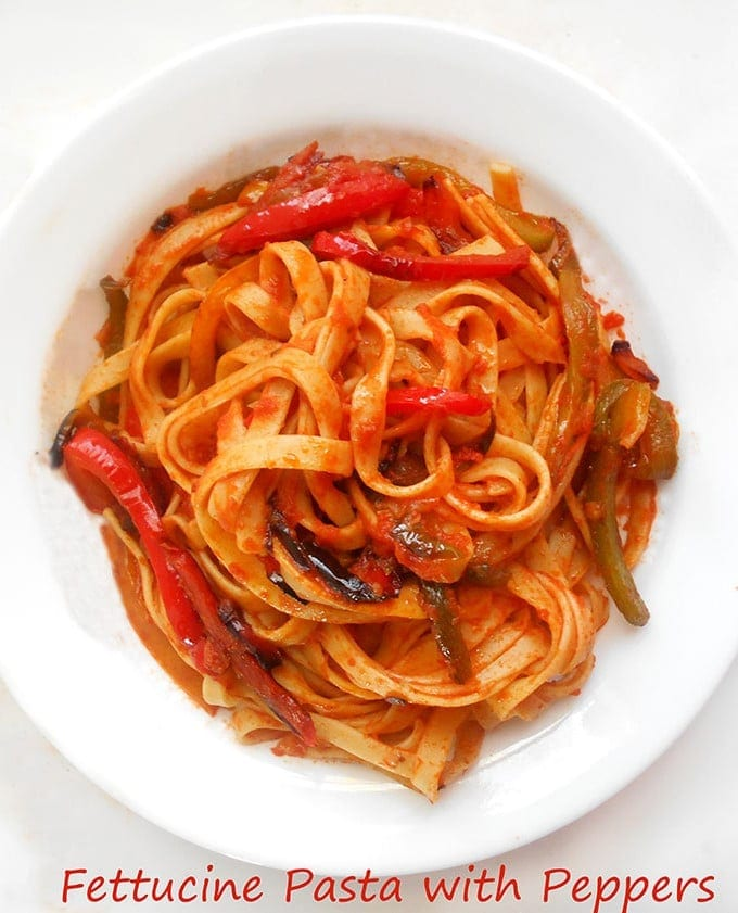 This is a quick and delicious Fettuccine pasta recipe with vegetables. Topped with Bertolli Pasta sauce. For quick & healthy dinner ideas, try this pasta