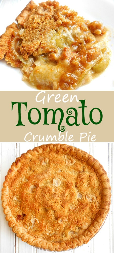 Green Tomato Crumble Pie - Tomato Desserts are a thing! Here is a tomato dessert using green tomatoes