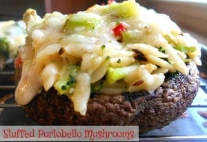 This stuffed portobello mushrooms recipe is a Simple Appetizers. If you are looking for vegetarian recipes, make this quick & easy appetizer. Also known as portobella mushrooms, this is a very filling and healthy recipe. Made with Orzo, broccoli and red chili peppers, it takes only 30 minutes to make.